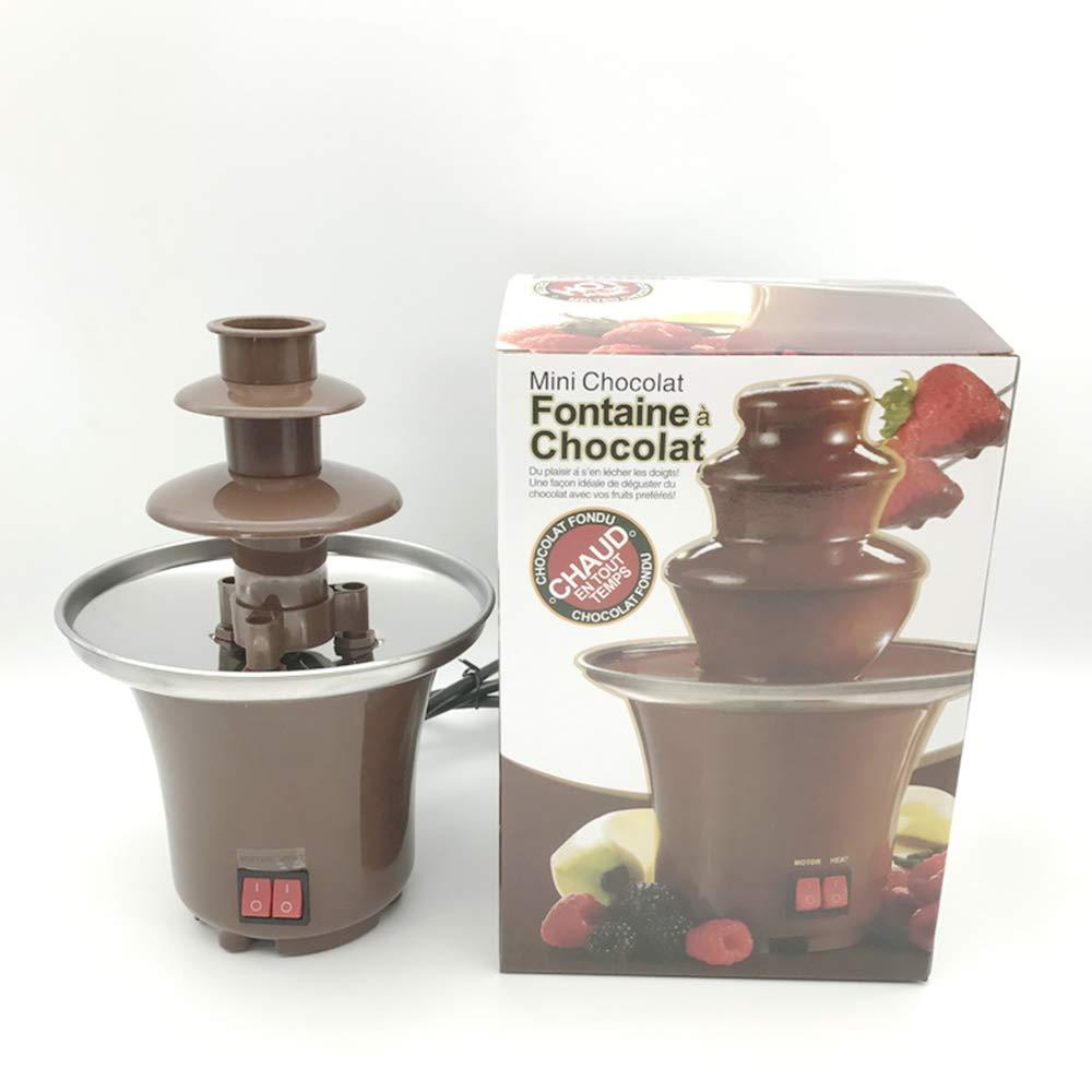 Mini Fuente del Chocolate De DIY, Torre De Fusión del Fusor De La Cascada con La Calefacción, Actividades Caseras De Los Niños: Amazon.es