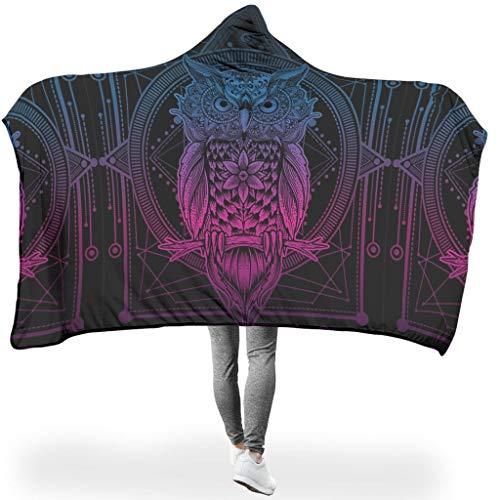 WJunglezhuang Mandala patroon dierlijke flanel fleece deken extreem warm in de woonkamer plafond
