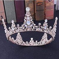 女性のためのヘアアクセサリーヴィンテージバロックゴールドパールリーフブライダルティアラクリスタルクラウンヘッドバンドヘッドピースウェディング花嫁ヘッドバンド18