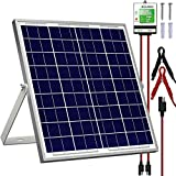 SOLPERK 20W Solar Panel,12V Solar Panel Charger Kit+8A Controller, Suitable for Automotive, Motorcycle, Boat, ATV, Marine, RV,...