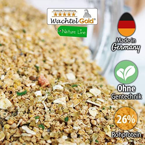 WachtelGold Wachtelküken Futter-Spezial Nature 2,5kg - reich an Kräutern und Blaumohn