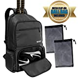 ZOEA Tennis Backpack, Tennis Bag Holds 2 Rackets, Ventilated Shoe Compartment and 2 Extra Drawstring Bag for All Gear and Equipment, Racquet Backpack Bag for Tennis, Badminton, Racketball, Pickleball