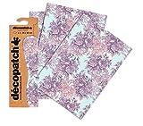 Clairefontaine Decopatch-Carta per decoupage, Confezione da 3, Rose, Format : 395 x 298 mm, 3 unità