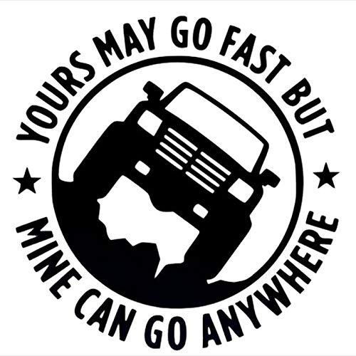 T-JPCT Autocollants côté Voiture Autocollants de Voiture Autocollants de Voiture de Sport réfléchissant Autocollants Voiture Jeep, Noir