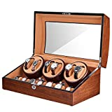 Best JQUEEN Automatic Watch Winders - JQUEEN Automatic Watch Winder with Quiet Motor, Six Review