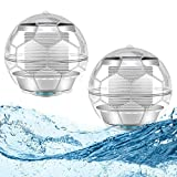 Luces Sumergibles, Guiseapue Piscina Luz LED Impermeables Bajo El Agua Luces Multicolores LED Luz Sumergible para piscina desmontable, Acuario, Estanque,...