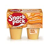 Enjoy a delicious snack anytime on-the-go with Snack Pack Butterscotch Pudding Cups The flavor of this butterscotch pudding dessert is where sweet and creamy meets delicious Butterscotch Snack Pack pudding is made with real milk and contains no high-...
