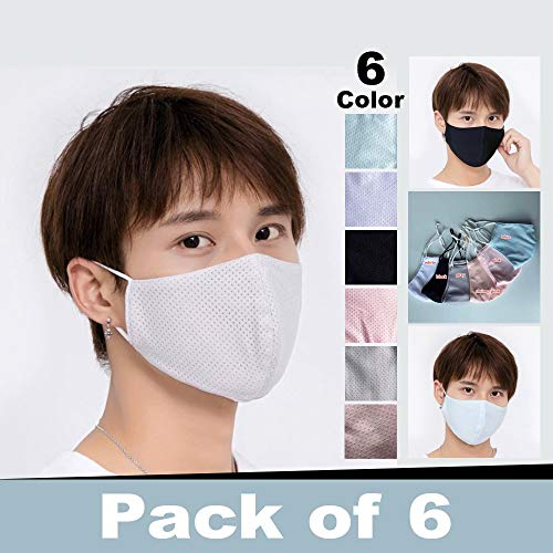 KINGWani 3 Ply Non-Woven Childrens Face Bandanas Face Covering for Children Dust-Proof Face Bandanas for Kids Facial Protective Ear Loop