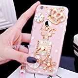 iPhone 5c Case - crystal_phonecase 360° Ring Holder Stand Handmade Crystal Diamond Soft Case Cover for Apple iPhone 5c (Crown Love (Perfume Bottle Holder Stand))