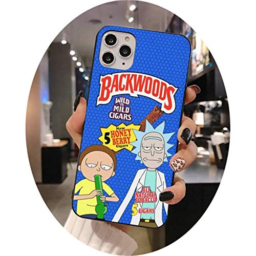 Rick Morty Backwoods Phone Case for iphone 12 pro max mini 11 pro XS MAX 8 7 6 6S Plus X 5S SE 2020 XR case,a2,For iphone 11