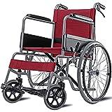 AWJ Silla de Ruedas, Transporte de Aluminio Silla de Ruedas Silla de Ruedas Plegable para Transporte y Almacenamiento para Adultos Silla de Ruedas autopropulsada para Ancianos