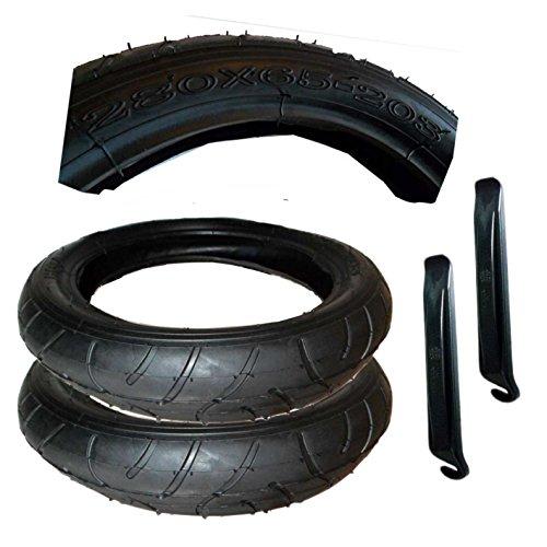 2 Stück Reifen Mantel 280 x 65 - 203 mit Montagehebel