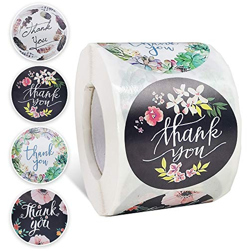 NANSSY 500 Pcs 2 Inch Thank You Stickers, Thank You Stickers Roll, Thank You Labels for Small Business, Handmade Goods, Greeting Cards, Business Greeting Cards, Gift Wraps.