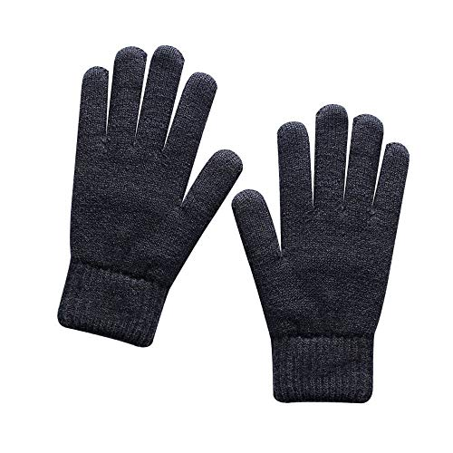 XDFDFW Winter Gloves Winter Knitted Gloves Men'S Thermal Soft Lining Elastic Cuff Acrylic Thickened Double Layer Warm Gloves Outdoor Sports For Men