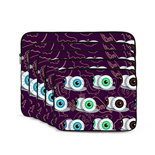 KUUDJIT Halloween Themed 12/13/15/17 Inch Laptop Sleeve Bag for MacBook Air 13 15 MacBook Pro Portable Zipper Laptop Bag Tablet Bag,Diving Fabric,Waterproof