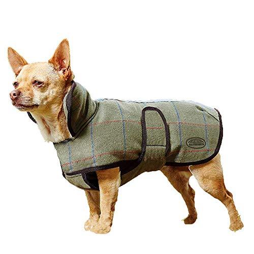 Cappottino per cani Weatherbeeta, in tweed, colore: verde oliva, Olive Tweed