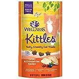 Wellness Kittles Crunchy Natural Grain Free Cat Treats, Turkey & Cranberry, 2-Ounce Bag