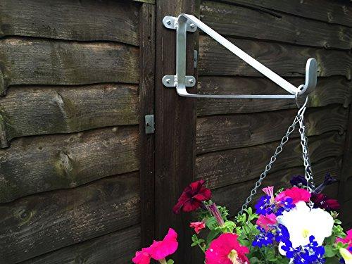 Nimonic Lot de 3 supports de paniers suspendus anti-rouille pour soudeurs jusqu'à 61 cm en aluminium pour poteaux/murs de 10,2 cm et fixations Fabriqué à la main au Royaume-Uni
