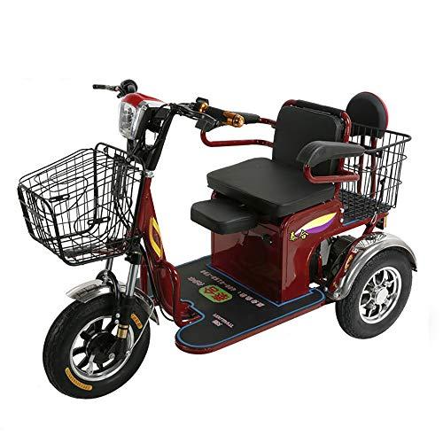 Sunzy Elektro-Dreirad, schwere ältere Behinderte Reise motorisierten Roller Geschwindigkeit DREI einstellbaren 48V / 20AH Lithium-Batterie Lagergewicht 450LB / 25 km/h