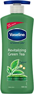 Vaseline Non-Greasy Formula with Pure Green Tea Extracts Revitalizing Green Tea Body Lotion, For Dull And Dry Skin - 400 ml