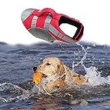 Wave Rider's Reflective Dog LifeJacket, Super Buoyancy EVA Lining ,Adjustable Dog Safety Vest (X-Large, Red)