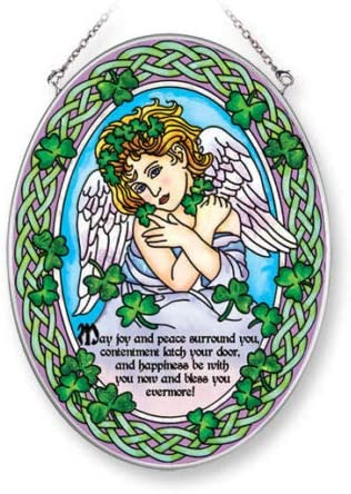 Stained Glass Suncatcher List price Sheltering Angel X 5.5