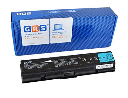 GRS Batería 6600 mAh para Toshiba Satellite A200, A205, A210, A215, A305, M200, M205, L200. sustituye a: PA3534U-1BRS, PA3535U-1BRS, PA3534U-1BAS, PABAS098, Laptop Batterie 6600mAh, 10.8V