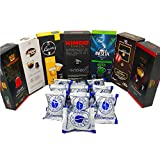 Nespresso Compatible Capsules Italian Multi-Brand Variety Pack - Best Bundle Collection of Different Medium, Dark, Bold and Intenso Roasts of Espresso Pods from Italy - 80 Pack