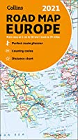 Map of Europe 2021: Folded Road Map (Collins Road Atlas)