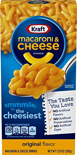 Kraft, Macaroni and Cheese - Original Flavour, No Artificial Flavours and Preservatives - Pack of 3, 206g