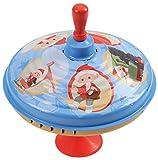 Bolz 52333 Brummkreisel ca. 19 cm, Blech Schwungkreisel, klassischer Pumpkreisel, Blechkreisel mit Unser Sandmännchen, Kreisel mit Standfuss, Spielzeugkreisel für Kinder ab 18m+, Sandmann Motive