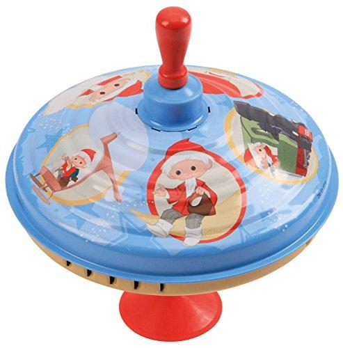 Bolz 52333 - Brummkreisel Sandmännchen ca. 19 cm, Blech Schwungkreisel, klassischer Pumpkreisel, Blechkreisel mit Unser Sandmännchen Motiv, Kreisel mit Standfuss, Spielzeugkreisel für Kinder ab 18m+