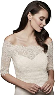 Off-The-Shoulder Lace Topper with 3/4 Sleeve Style OW2112
