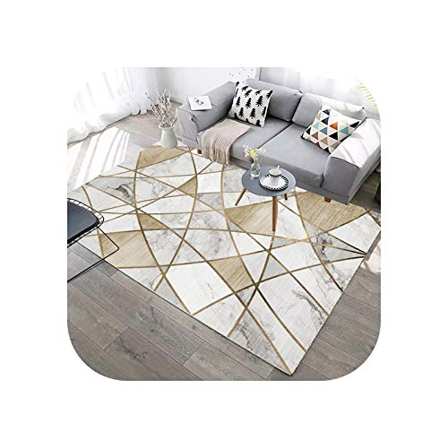Rugs for Living Room | Abstract Geometric Lines Green Carpet for Living Room Sofa Coffee Table Marble Print Rug Blue Washable Floor Mat Room Decor-14-600x900mm