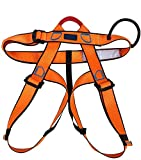 UCEC Climbing Harness Safe Seat Belt, for Fire Rescue, High Altitude Rock Climbing, Rappelling Equipment, Half Body Guard Protect, Pack of 1(Orange)
