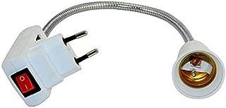 Base para bombilla con enchufe L/ámpara de hogar colgante Portal/ámparas Portal/ámpara E27 con cable y interruptor 2PCS adaptador de l/ámpara