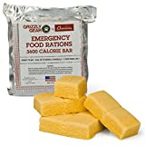 Emergency Food Rations - 3600 Calorie Bar - 3 Day Supply - Less Sugar and More Nutrients Than Other...
