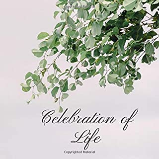 Celebration of Life: Funeral Guest Book, Condolence Book, Memorial Guest Book, Registration Book, Book of Remembrance, Contemporary Matte Finish