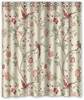 HTgoodveryer Curtain Summer Palace Cranberry Design 100% Waterproof & Large Size