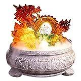XXXXW Fuente de jardín Bola Cubierta Interior de la Fuente de Escritorio Lucky Dragón de Cristal Fuente decoración Feng Shui decoración de Cristal Fuente, Resina Fuente Decorativa Interior