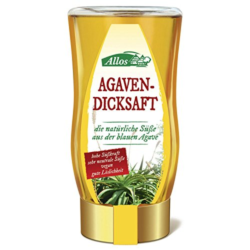 Allos Agavendicksaft in der Spenderflasche (250 ml) - Bio