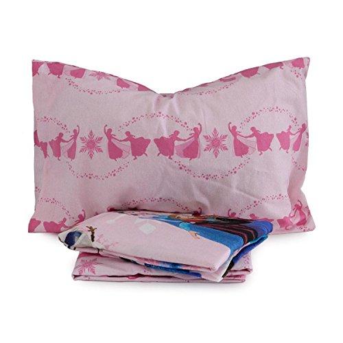 Disney Q231 - Juego de sábanas, con estampado Frozen, de franela, para cama individual (una plaza)