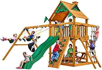 Gorilla Playsets Chateau Cedar Wooden Swing Set
