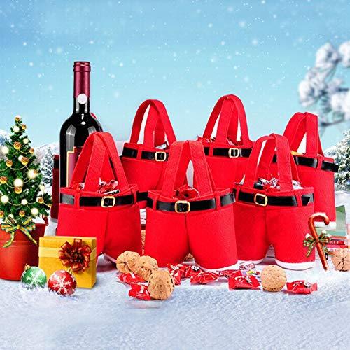 yimosecoxiang Schutzhülle für Weinflaschen, Weihnachtsmotiv, groß, Rot, S