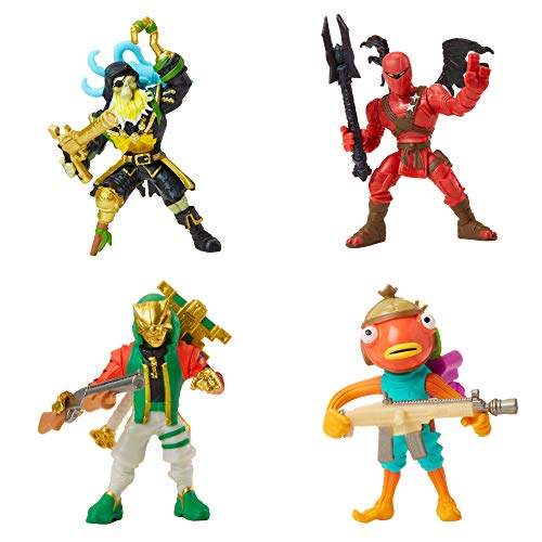 Fortnite Battle Royale Collection: Squad Pack - Blackheart, Hybrid, Master Key, Fishstick Mini Action Figures