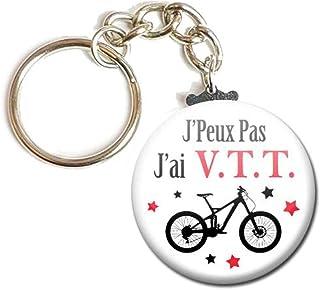 Porte Clés Chaînette 3,8 centimètres j' peux pas j' ai Vtt Vélo Idée Cadeau Accessoire Humour Loisir Hobby Passion Excuse