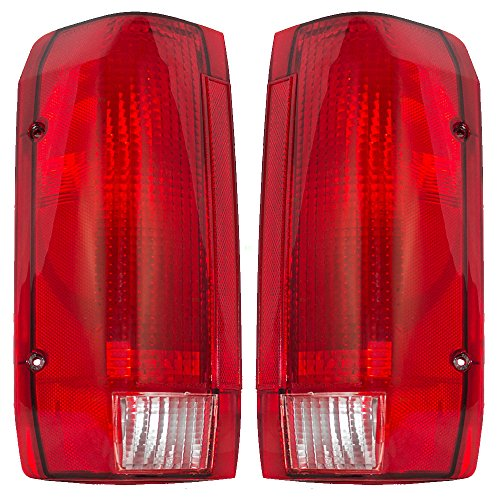 Taillights Tail Lamps Driver and Passenger Replacements for Ford Pickup Truck SUV E9TZ13405C E9TZ13404C