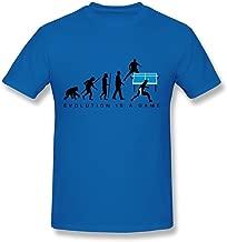 HD-Print Particular Table Tennis Evolution T Shirt for Man DeepHeather