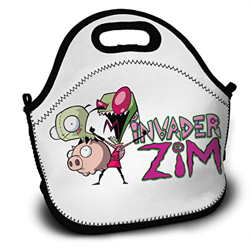 OJPOGHU Invader Zim Lunchboxes Insulated Lunch Tote Bags For Outdoor School Picnic Travel