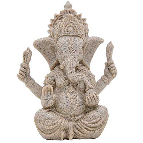PYK life Buddha Statue, Sandstone Ganesha Statues by Handmade. Ganesh Idol for Car,Hindu Statues,Ganesha Idol,Budda Statues for Home Decor.